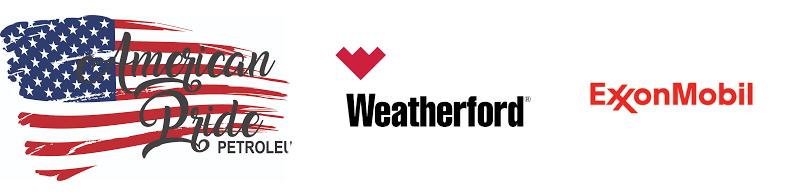 Pride Petroleum, Weatherford and ExxonMobil logos